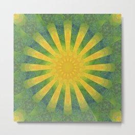 yellow rays Metal Print