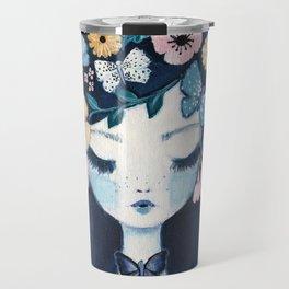 Flower Crown portrait Travel Mug