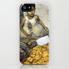 Varanasi little girl iPhone Case