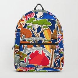 Australian Pattern Backpack