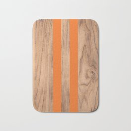 Wood Grain Stripes Orange #840 Bath Mat