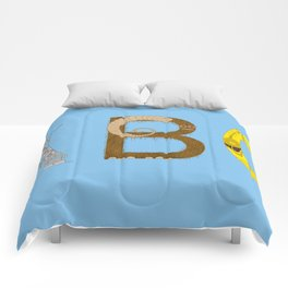 mAY BEE SEE be with you! (blue) Comforters