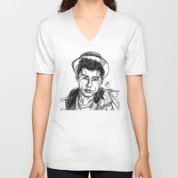 zayn malik V-neck T-shirts featuring Zayn Malik by Hollie B