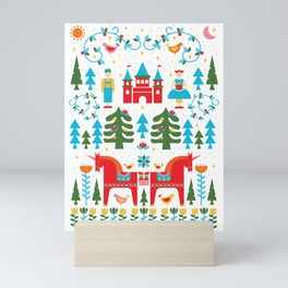 Scadinavian Fairytale Bright Mini Art Print