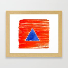 orange desert Framed Art Print