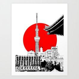 tokyo skytree red dot 1 Kunstdrucke
