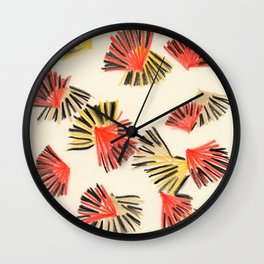 Starburst in Flame Wall Clock