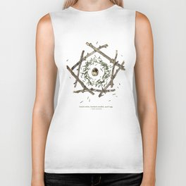 nature mandala... beech sticks, hemlock needles, quail egg Biker Tank