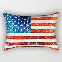 American Flag Art - Old Glory - By Sharon Cummings Rectangular Pillow