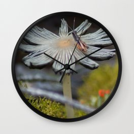Mushroom on Grasshopper Wall Clock