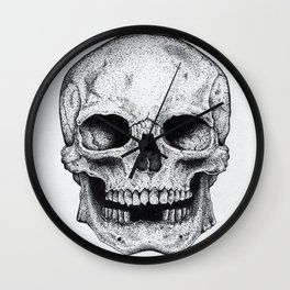 Traditional Anatomical Skull Design Wall Clock