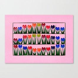 Champ de tulipes Canvas Print