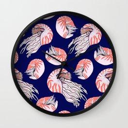 Nautilus / Nautilus shell/ Coastal Home Wall Clock