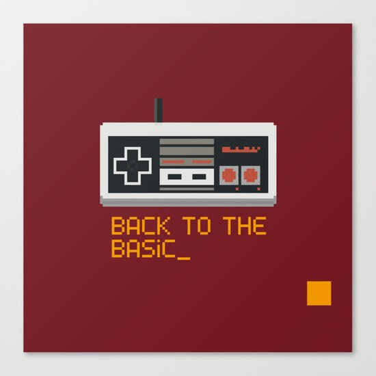 back to the basic_  Canvas Print