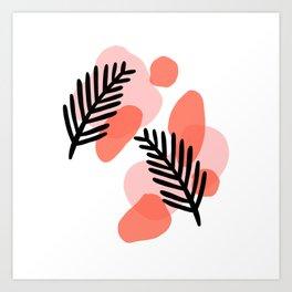 palms and blobs Art Print