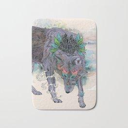 Journeying Spirit (wolf) Bath Mat