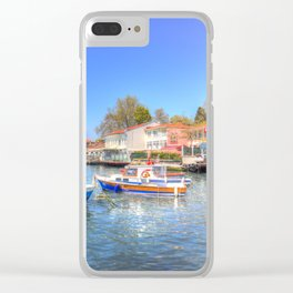 Boats on The Bosphorus Istanbul Clear iPhone Case