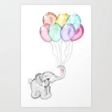 Party Elephant Art Print
