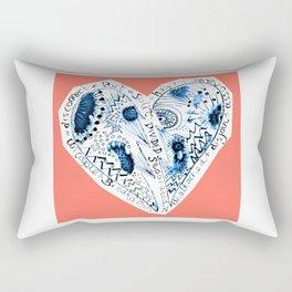 divorced, spearated halved Rectangular Pillow