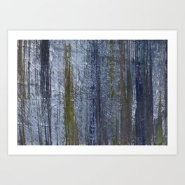 Gray abstract painting Art Print