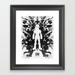 Ink Blot Link Kleptomania Geek Disorders Series Framed Art Print