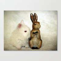 bunnies Canvas Prints featuring Bunnies by Angelandspot