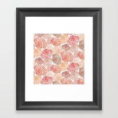 Mid Shells: Pink corals Framed Art Print