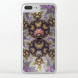 Magic in the air, fractal pattern abstract Clear iPhone Case