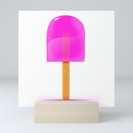 Pink Iced Lolly Mini Art Print