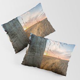 Late December - Western Scene of Fence Post and Sunset Pillow Sham