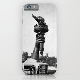 Lady Liberty's Hand and Torch - Centennial Exhibition in Philadelphia - 1876 iPhone Case