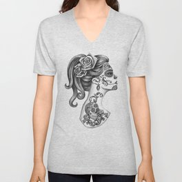 Day of the Dead Girl Unisex V-Neck