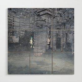 '跳下去的一秒 The Moment While Jumping off' Illustration 4 Wood Wall Art