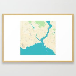 Minimalist Modern Map of Istanbul, Turkey Framed Art Print