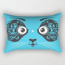 Cat face close-up Rectangular Pillow