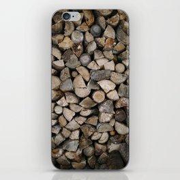Wood Stack iPhone Skin
