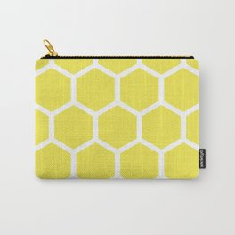 Honeycomb pattern - lemon yellow Carry-All Pouch
