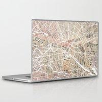 berlin Laptop & iPad Skins featuring Berlin by Mapsland