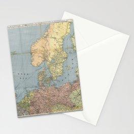 Flemmings Kriegskarten / Flemming's War Maps (1914) - 005 Naval War Map Stationery Cards