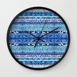 Faded Blues Wall Clock