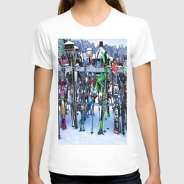Ski Party - Skis and Poles T-shirt