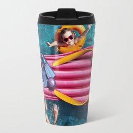 Children swim inpool Travel Mug
