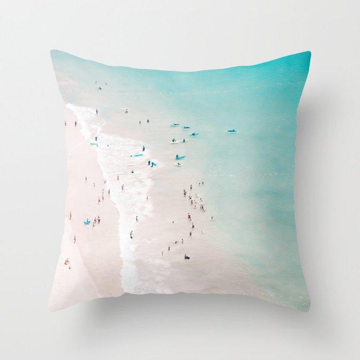 beach - summer love II Throw Pillow