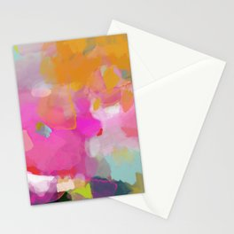 pink sun clouds abstract Stationery Cards