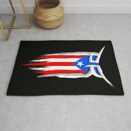 PR Flag - Puerto Rico Flag - Boricua Rug