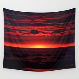 Red Sky at Night Wall Tapestry