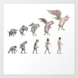 Darwin's Inspiration Art Print