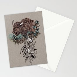 Buffalo Wildflower and Magnolias Stationery Cards