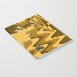 Shades of Brown Waves Notebook