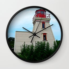 Lighthouse in the Garden Wall Clock